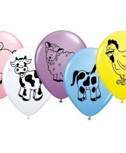 "10 Farm Animals Helium Filled 11""latex Party Party Balloons"