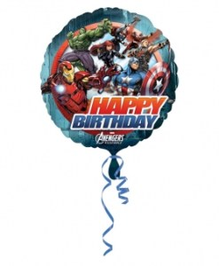 avengers happy birthday Helium Filled Foil Balloon