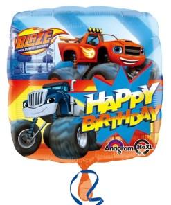 blaze & the monster Machines happy birthday Helium Filled Foil Balloon
