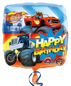 blaze & the monster Machines happy birthday Helium Filled Foil Balloon