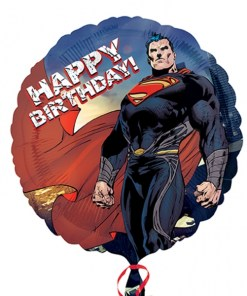 superman- man of steel happy birthday Helium Filled Foil Balloon