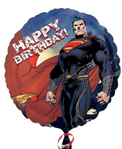 superman- man of steel happy birthday Helium Filled Foil Balloon