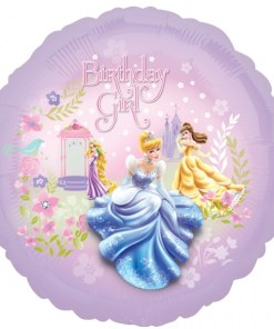 princess biirthday girl Helium Filled Foil Balloon