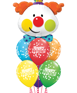 Birthday Clown at London Helium Balloons