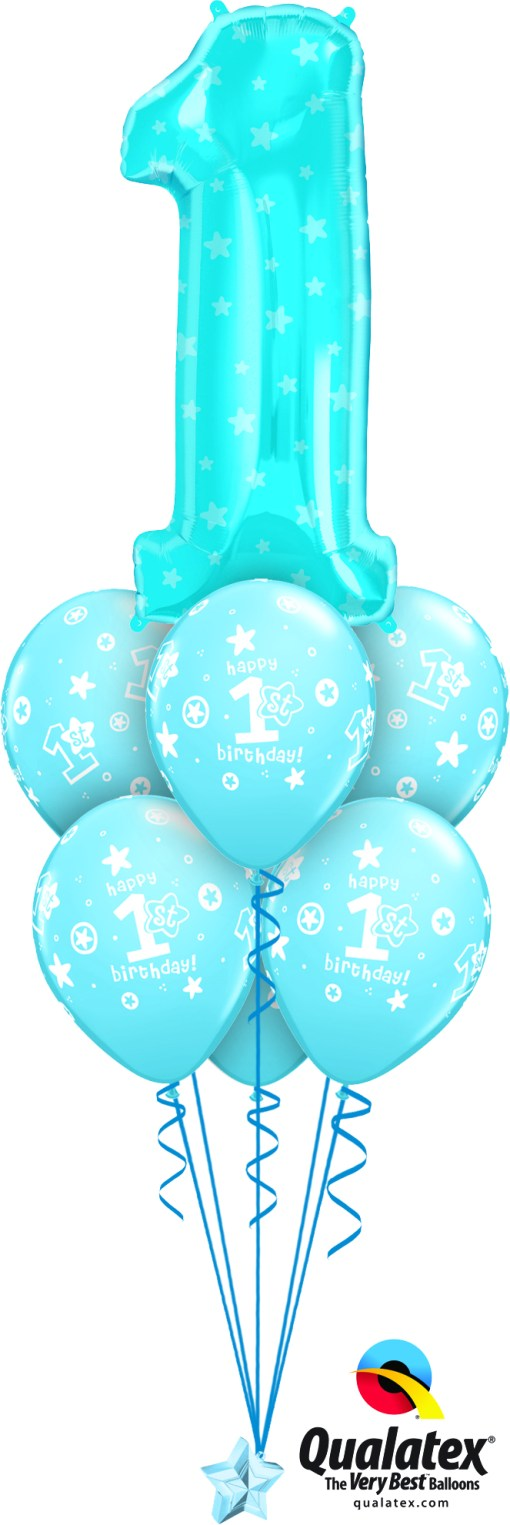 Get Blue 1St Birthday Helium Balloons Delivered To Your Choice Of Venue-7761