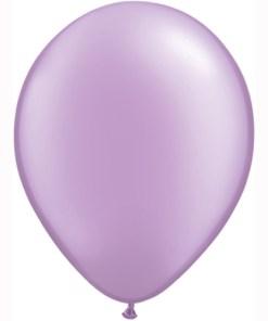 """10 Treated Pearlised Lavender Purple 11"""" Helium Filled latex Balloons"""