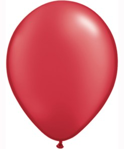 """10 Treated Pearlised red 11"""" Helium Filled latex Balloons"""