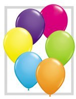 """10 Treated Fashion Tropical Assorted 11"""" Helium Filled Party Balloons"""