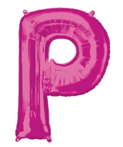 Pink Helium Letter Balloons