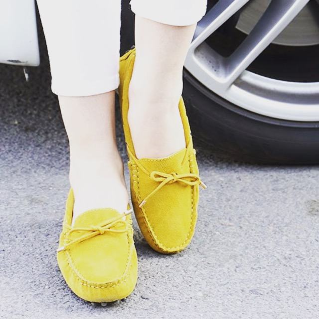 Women's French Mustard 'Kensington' Driving Loafers
