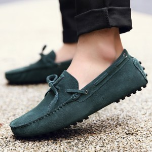 mens green driving shoes loafers – chelsea london loafers 1