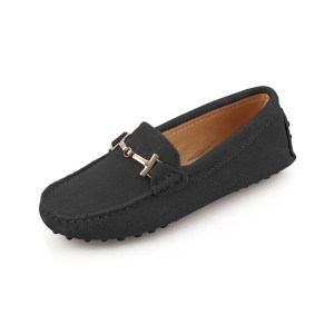 womens black suede horsbit driving shoes - windsor shoe by london loafers