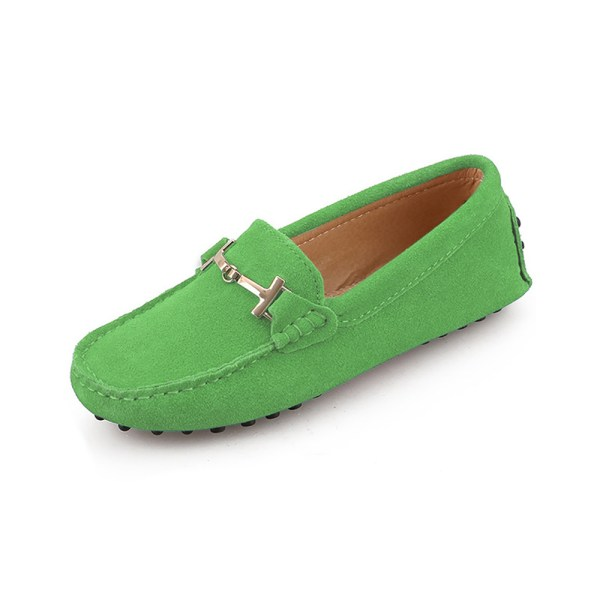 womens green suede horsbit driving shoes – windsor shoe by london loafers