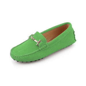 womens green suede horsbit driving shoes - windsor shoe by london loafers