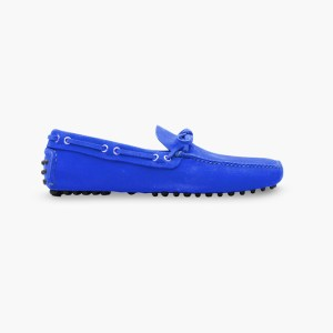 Mens Royal Blue Classic Driving Shoes - Mens Driving Loafers By London Loafers - Suede Loafers For Men3