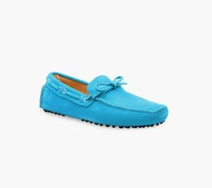 Mens Turquoise Classic Driving Shoes – Mens Driving Loafers By London Loafers – Suede Loafers For Men3