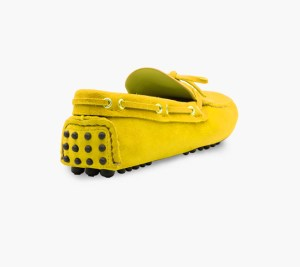 Mens Yellow Classic Driving Shoes – Mens Driving Loafers By London Loafers – Suede Loafers For Men2