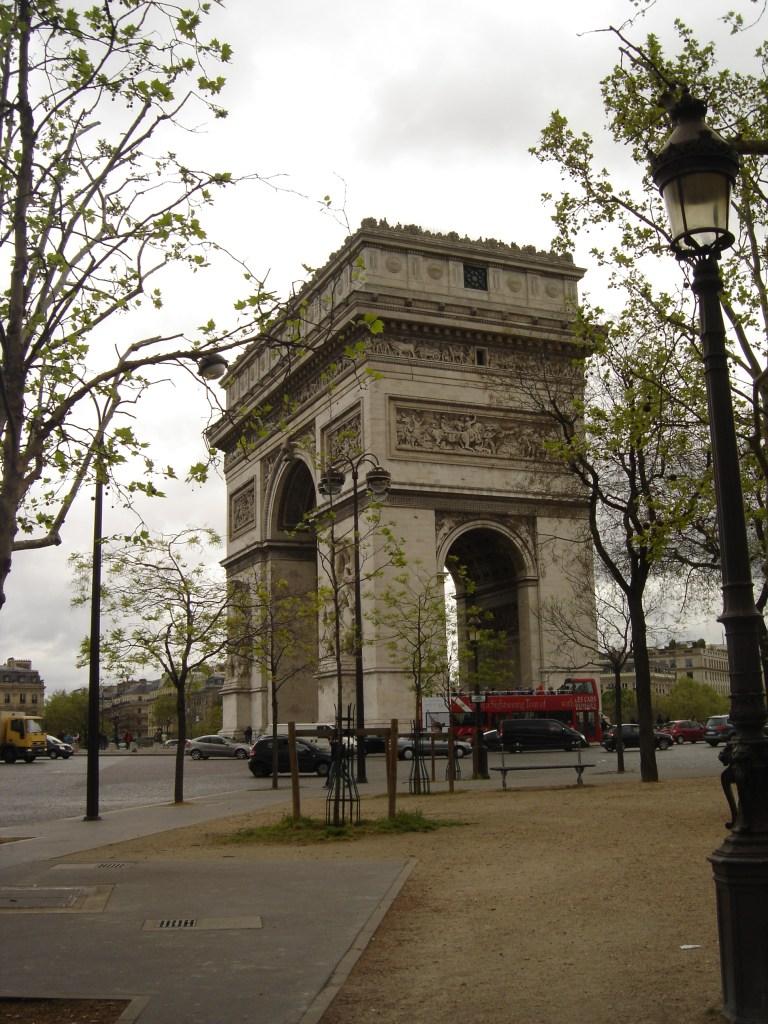 October Paris Arc de Triomphe