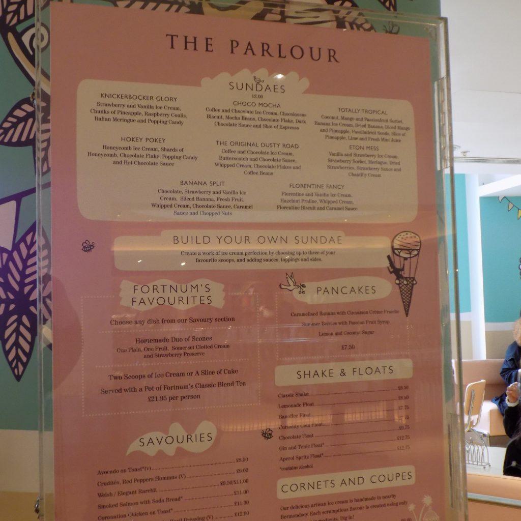 The Parlour Restaurant at Fortnum & Mason
