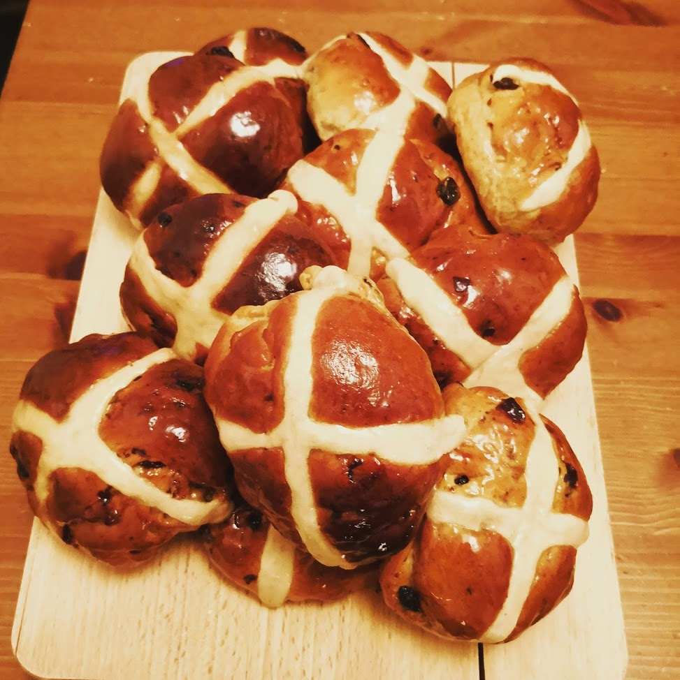 April Hot Cross Buns