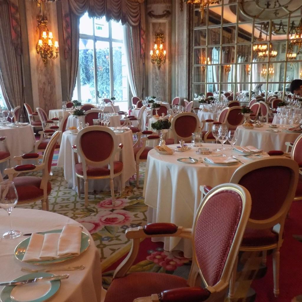 Ritz Hotel dining room