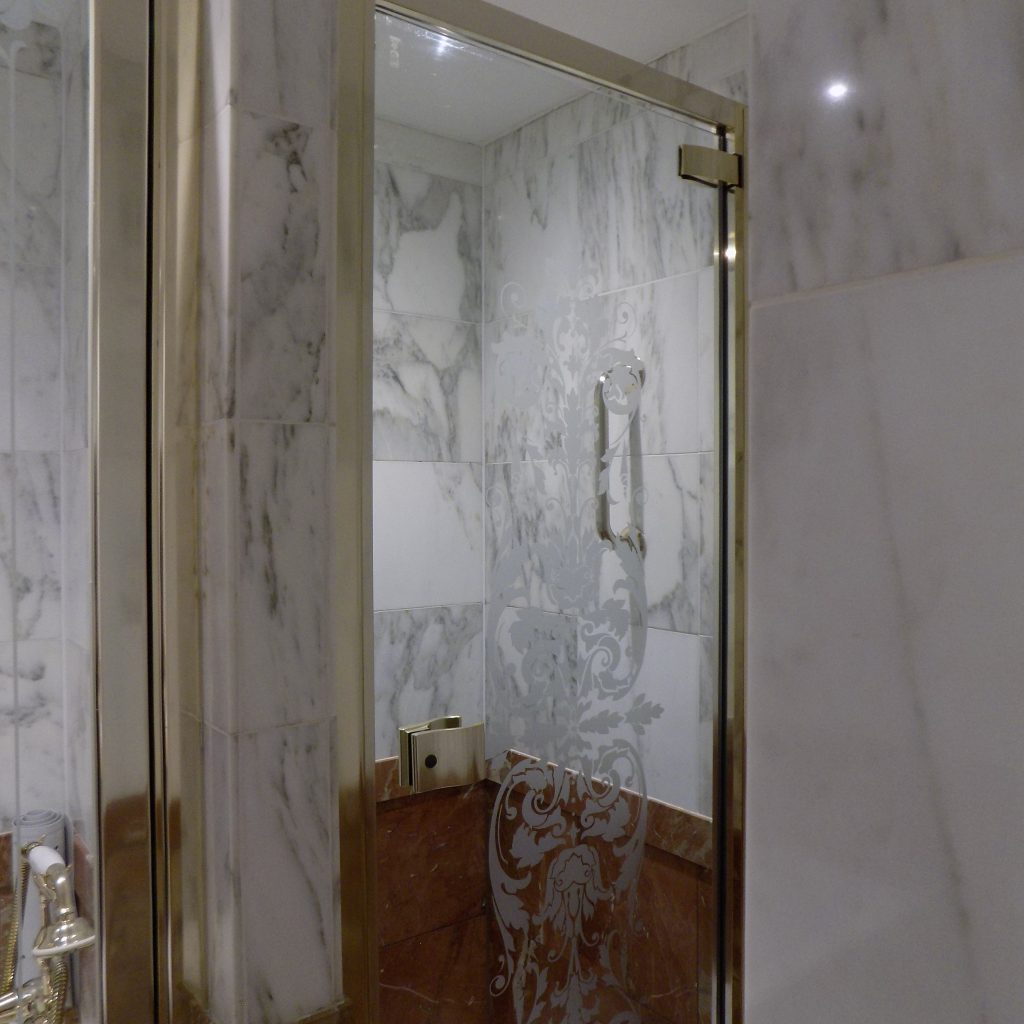 Ritz Hotel bathroom.