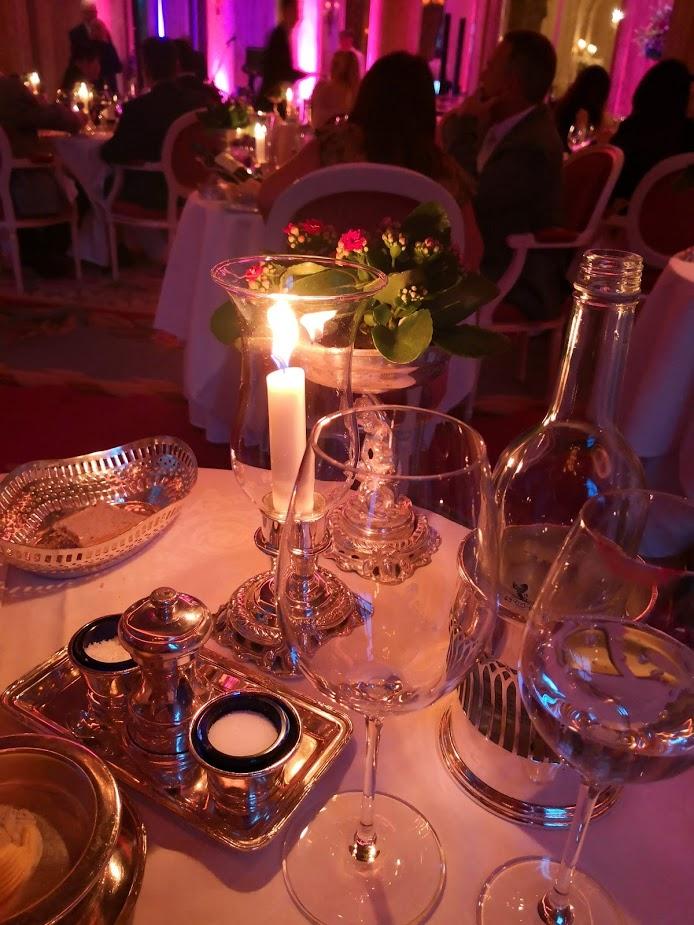 Ritz Hotel dinner