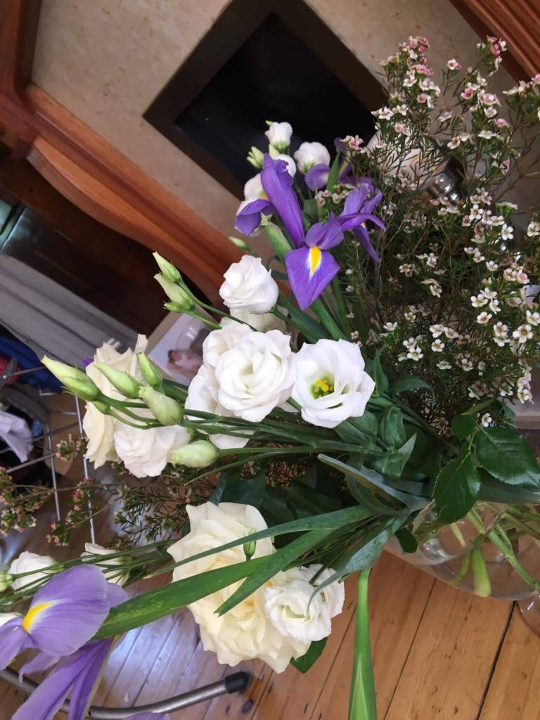 Freddie's Flowers bouquet my flowers arranged in vase