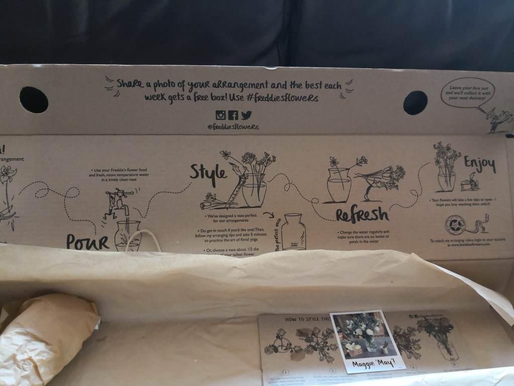 Freddie's Flowers comes with descriptive box