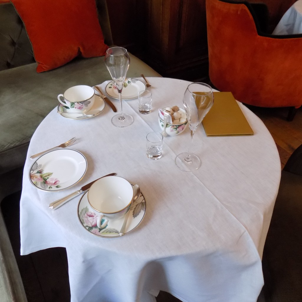 Our beautifully dressed tabled at the English Tea Room