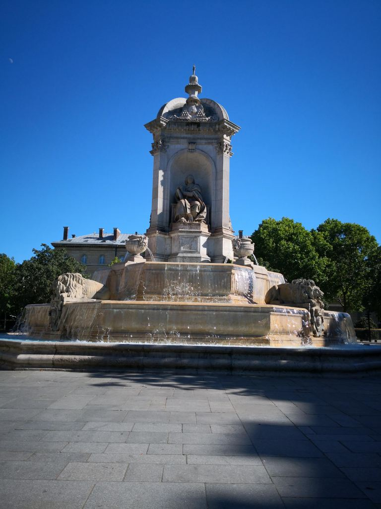 The fountain at the Place Saint-Sulpice.