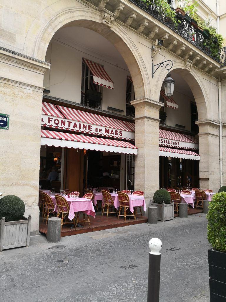 Fontaine de Mars bistro what do do in the Marais Paris stories August 25th
