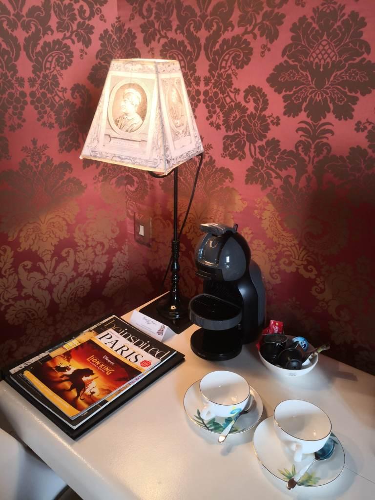 Hotel du Petit Moulin coffee machine