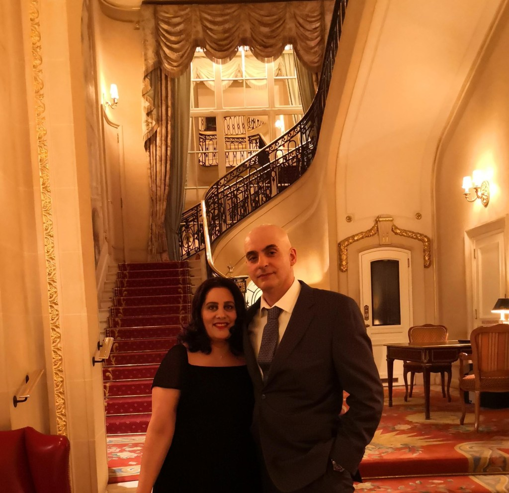Me and my husband at the Ritz
