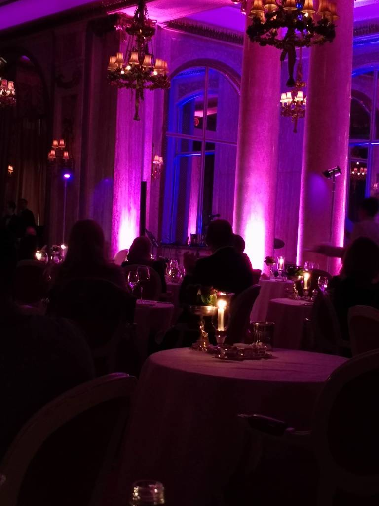 Dinner and dancing at the Ritz Hotel