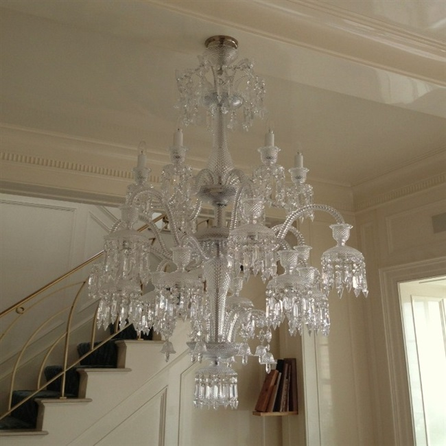 Baccarat Chandelier Over Dinning Room Table West Village Nyc