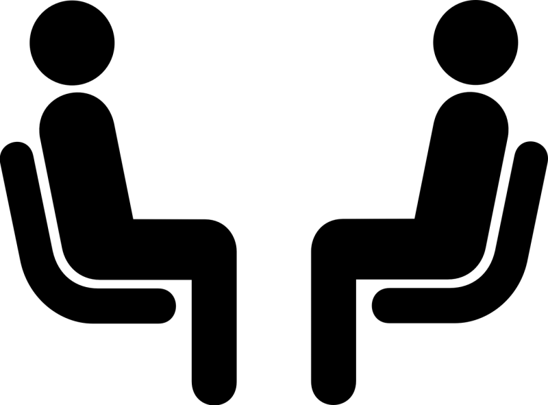 interview, people, symbol