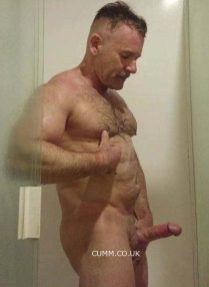hung silver daddy muscle hairy horny