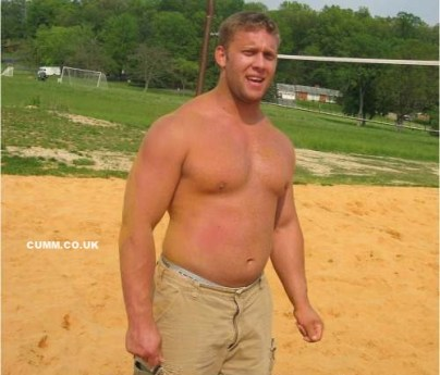 stocky muscle lad barechested