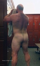 hairy back dad nude gym
