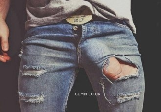 torn-jeans-foreskin-exposed