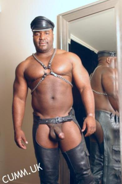 leather daddy black hung