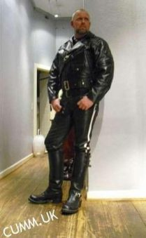 leather daddy strict dominant huge cock
