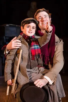 A Christmas Carol Bob Cratchit (David Hunter) Tiny Tim (LeoMann)