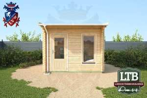 London Timber Buildings Log Cabin Wembley Range 3.2m x 2.8m WEM011 003