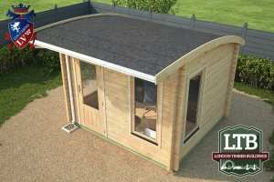 London Timber Buildings Log Cabin Wembley Range 3.2m x 2.8m WEM011 005