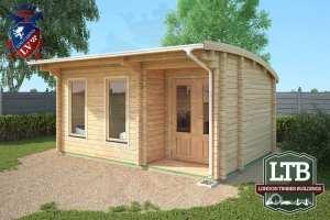 London Timber Buildings Log Cabin Wembley Range 5m x 3.5m WEM029 002