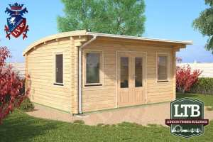 London Timber Buildings Log Cabin Wembley Range 5m x 4m WEM032 001