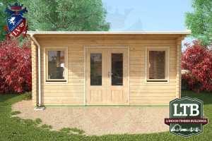London Timber Buildings Log Cabin Wembley Range 5m x 4m WEM032 003