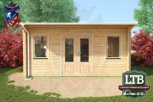 London Timber Buildings Log Cabin Wembley Range 5m x 4m WEM032 003